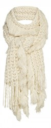 Sandwich Scarf With Fringes And Tassels