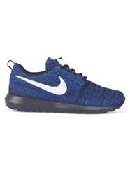 Nike Navy And Black Roshe Nm Flyknit Sneakers Blue