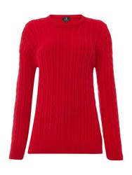 Simon Jeffrey Knitted Jumper Red