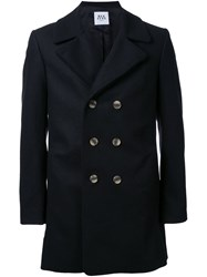 Wan Hung 3D Detail Double Breasted Coat Black