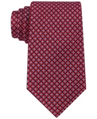 Tommy Hilfiger Micro Neat Tie Red