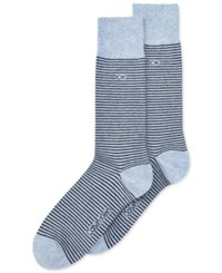 Calvin Klein Men's Fine Striped Socks Black