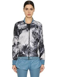 Adidas By Stella Mccartney Palm Printed Nylon Running Jacket