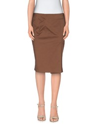 Borbonese Skirts Knee Length Skirts Women Cocoa