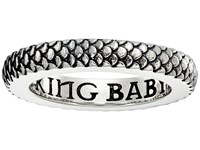 King Baby Studio Dragon Scale Infinity Ring Silver