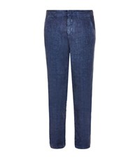 Orlebar Brown Randall Linen Trousers Male Navy