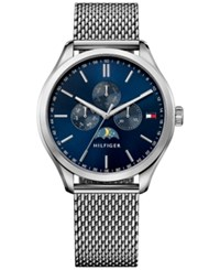 Tommy Hilfiger Men's Sport Lux Stainless Steel Mesh Bracelet Watch 42Mm 1791302 Silver