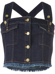 House Of Holland 'Hoh X Lee Collaboration' Dungaree Top Blue