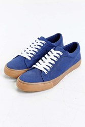Urban Outfitters Uo Canvas Court Gumsole Sneaker Navy