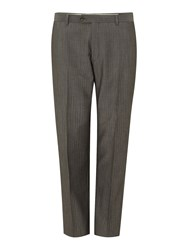 Corsivo Nure Panama Soft Stripe Suit Trousers Grey