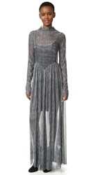 Giada Forte Metallic Dress Argento