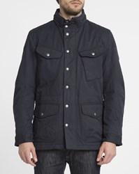 Hackett Navy Thermo Insulate Velo Speed Waterproof Zipped Quilted Parka Blue