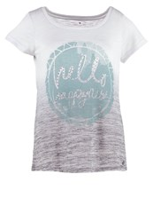 Tom Tailor Print Tshirt Steal Blue