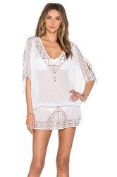 Ale By Alessandra Embroidered Tunic Cover Up White