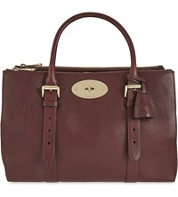 Mulberry Bayswater Leather Double Zip Tote Oxblood