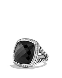 David Yurman Albion Ring With Black Onyx And Diamonds Silver Black