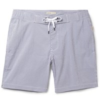 Onia Alek Id Length Striped Swi Shorts Navy