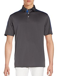 Callaway Contrast Piped Polo Asphalt