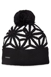 Dsquared2 Wool Hat With Bobble Multicolor