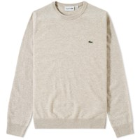 Lacoste Classic Lambswool Crew Knit Brown