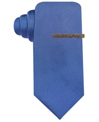 Ryan Seacrest Distinction Seacrest Solid Slim Tie Navy