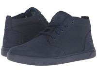 Timberland Groveton Leather And Fabric Chukka Navy Nubuck Men's Shoes Blue