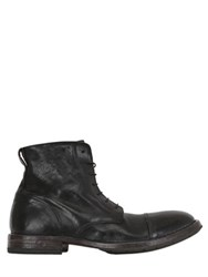 Moma Washed Leather Lace Up Boots