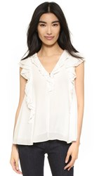 Apiece Apart Condesa Double Ruffle Top Cream