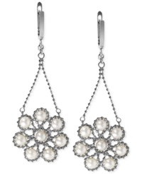Effy Collection Effy Cultured Freshwater Pearl Flower Cluster Drop Earrings In Sterling Silver 4 1 2Mm White