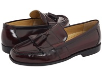 Nunn Bush Keaton Kilty Tassele Slip On Burgundy Smooth Leather Men's Slip On Dress Shoes