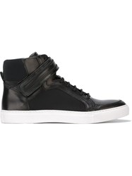 Diesel Black Gold Panelled Hi Top Sneakers