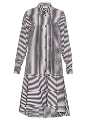 Osman Perfect 5 Pabita Striped Cotton Shirtdress Black White