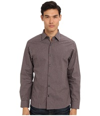 Michael Kors Floyd Check Ceo Shirt Dark Bordeaux Men's Long Sleeve Button Up Multi