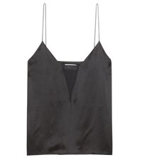 Frame Le Sheer Silk Camisole Black