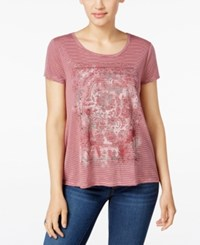 Styleandco. Style Co. Petite Floral Print Graphic T Shirt Only At Macy's Pink Combo