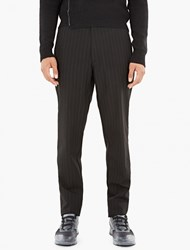 Raf Simons Black Relaxed Pinstripe Trousers