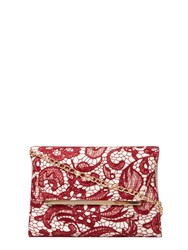 Dorothy Perkins Lace Chain Clutch Bag Red