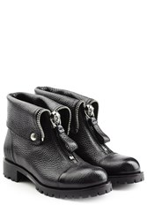 Alexander Mcqueen Leather Ankle Boots Black