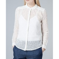 Bzr Cream Maud Crochet Shirt