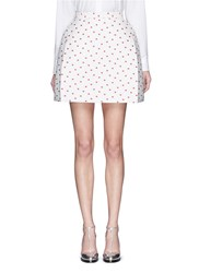 Delpozo Polka Dot Jacquard Mini Bell Skirt Multi Colour