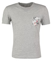 Harris Wilson Guillermo Print Tshirt Gris Chine Mottled Grey