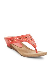 Kenneth Cole Reaction Great Leaps Studded Thong Sandals Apricot