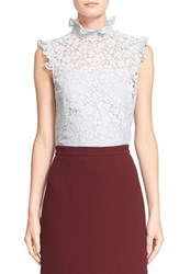 Women's Erdem 'Mika' Floral Lace High Collar Blouse