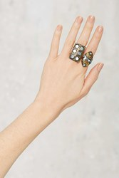 Stoned Throw Statement Ring Set