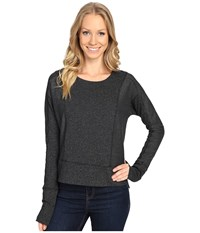 Mountain Hardwear Shadow Knit Crew Long Sleeve Shirt Black Women's Clothing