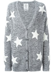 Zoe Karssen Boucle Star Cardigan Grey