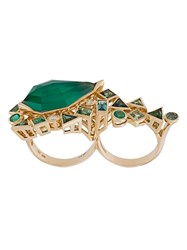 Stephen Webster 'Crystal Haze' Emerald And Diamond Ring Metallic