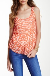 Sweet Pea Ruched Racerback Tank Red