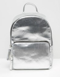 Skinnydip X Coke Metallic Backpack Silver