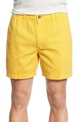 Vintage Men's 1946 'Snappers' Washed Elastic Waistband Shorts Prep Gold